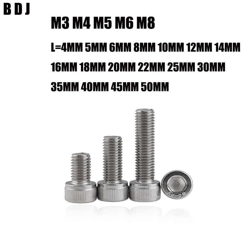 18-8 Socket Head Cap Screws Metric 35 pcs Hex Socket Drive AISI 304 Stainless Steel M5-0.8 X 30mm DIN 912