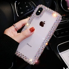 Luxury Fashion Crystal Diamond Phone Case For Iphone XS Max XR X 8 7 6S 6 Plus Soft Cover For Samsung S10 Plus S10E S9 S8 Plus multifunction woven pattern zipper wallet case for samsung note 10 8 9 s8 s9 s10 plus s10e for iphone xs max xr x 6 6s 7 8 plus