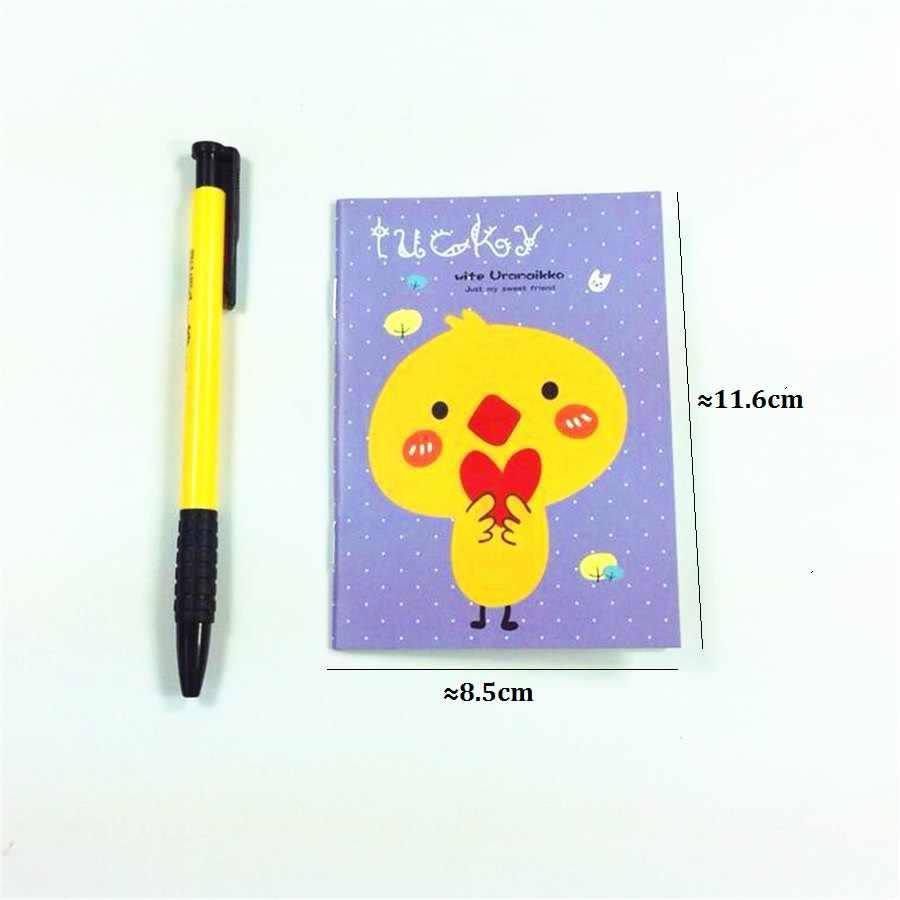 1 pçs/lote Kawaii Animais projeto Mini notebook alunos diy diário livro plano de viagem de bolso