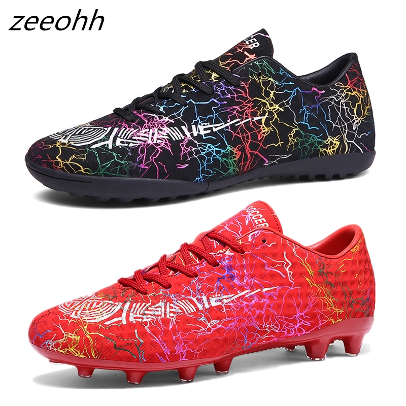 Zeeohh Soccer-Shoes Boots Sport-Sneakers Traing Kids Cleats Boys Outdoor Men Low-Top
