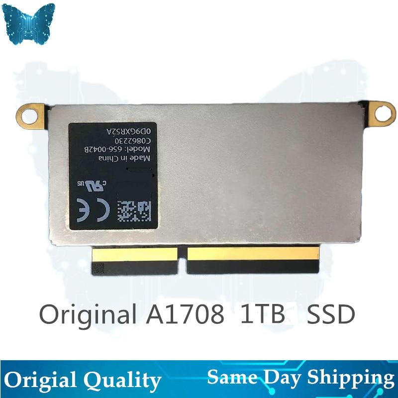 Ordinateur portable d'origine 656-0046B SSD pour Macbook Pro Retina 1 to A1708 disque à semi-conducteurs PCI-E EMC 3164 EMC 2978 2016-2017