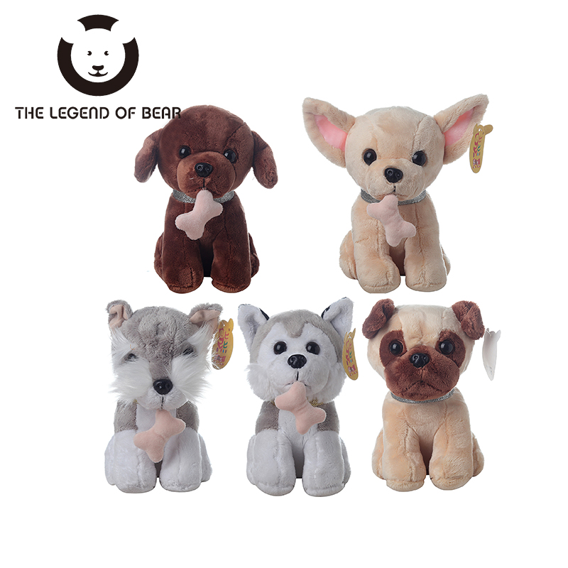 5 Style Dog Dolls THE LEGEND OF BEAR Brand Stuffed Plush Animals Toys Tiny Soft Toy Gifts For Children Girls Kawaii Anime 68cm kawaii bull terrier dog plush kids toy emoji sleeping pillow toy cute soft baby toys stuffed dolls for children girl gifts