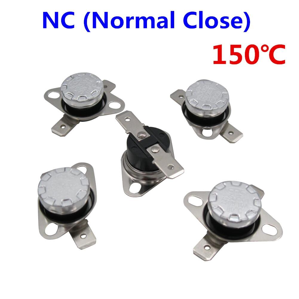 50x KSD301 Normal Open N.O 10A 250V Thermostat Bimetal Disc Temperature Switch
