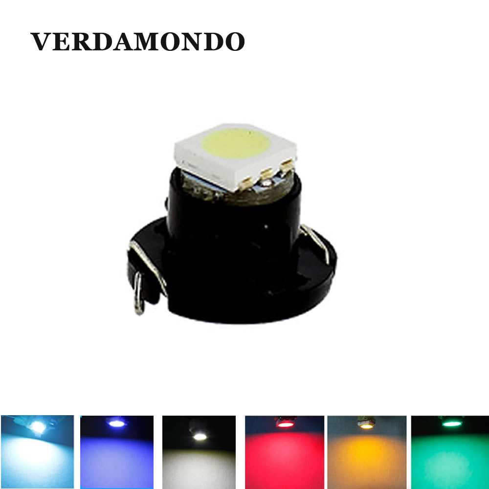 T4.7 LED Lamps 5050 SMD Car Dashboard Warning Indicator Light Instrument Cluster Bulb DC12V White Blue Red Yellow Green Ice Blue
