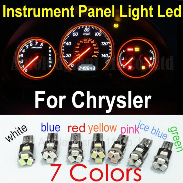 T5 Light Led Lamp 7 Colors Car 74 73 Gauge Dash Dashboard Instrument Panel Bulb For Chrysler 10pcs