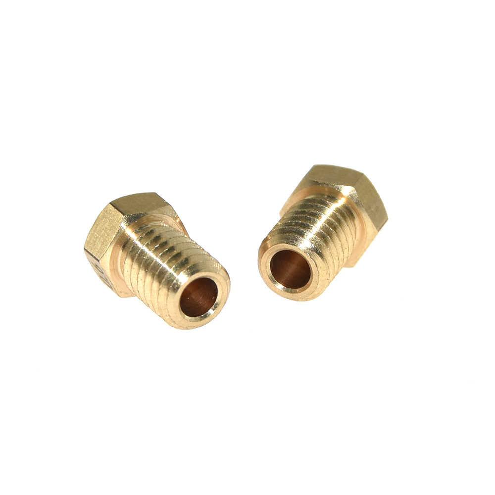 Acessórios Da Impressora 3D V5 V6 M6 rosca Do Bico 0.2 0.25 0.3 0.4 0.5 0.6 0.8 1.0 milímetros para 1.75 milímetros 3.0 milímetros filamnet Full Metal E3D
