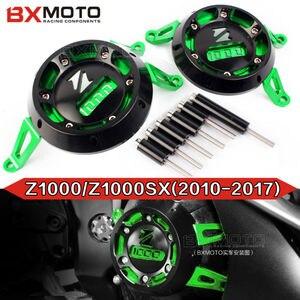 Image 2 - Für Kawasaki Z1000 2010 2019 Z1000SX 2011 2018 Motorrad CNC Aluminium Motor Schutz Seite Stator Fall Schutz Protector 5 farben