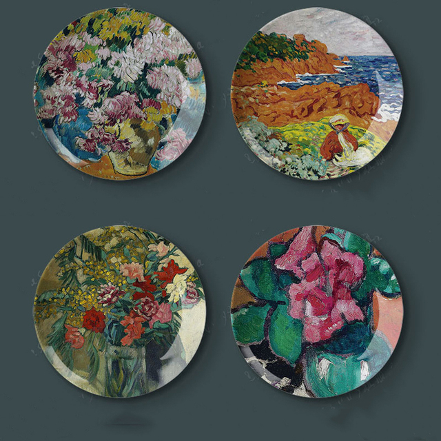 Fornasetti Decoration Plates 8 inch LOUIS VALTAT Oil Painting Decorative Art Plates Home Wall Hall Hanging : decoration of plates - Pezcame.Com