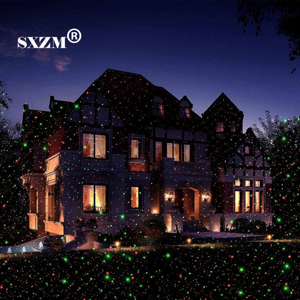 sxzm waterproof led laser light christmas lawn light sky star projector landscape stage spotlight park garden xmas decoration in stage lighting effect from - Laser Lights For Christmas Outdoors