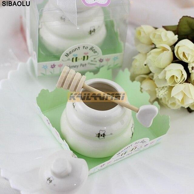 8 Stucke Keramik Bee Honig Glas Honig Topf Hochzeitsbevorzugungen