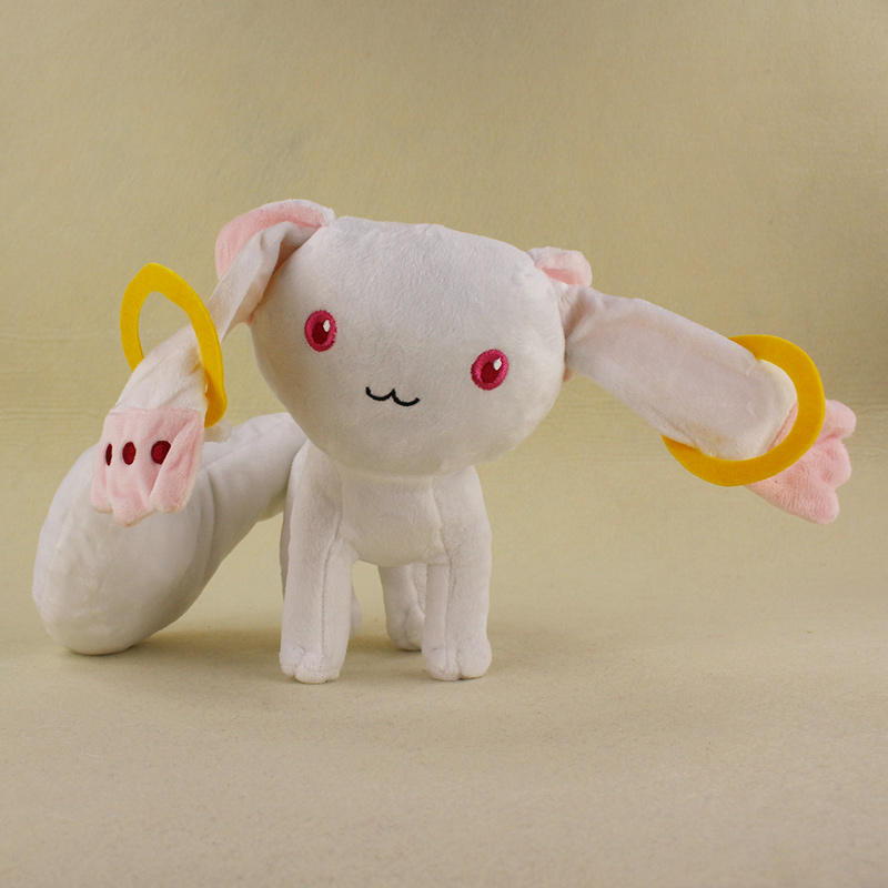 "New 9/"" Puella Magi Madoka Magica Kyubey Plush Toy Doll Free Shipping"