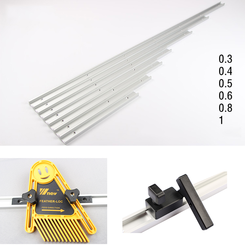 Standard Aluminium T-track Woodworking T-slot Miter Track For Router Table Tool Accessories 300/400/500/600/800/1000mm