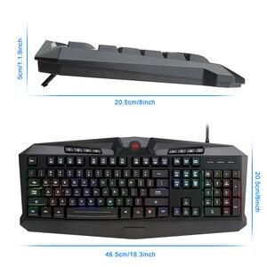 Image 5 - Redragon S101 BA 1 USB de Gaming RGB teclado mouse pad auriculares combos 104 clave 3200 DPI 5 botones Set de ratón con cable de la PC de la computadora juego