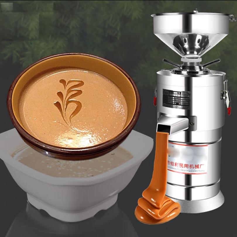 Mute Grinding Refiner Grinding Peanut Butter Mash Sauce Grinder Multifunctional Commercial Sesame Sauce Machine