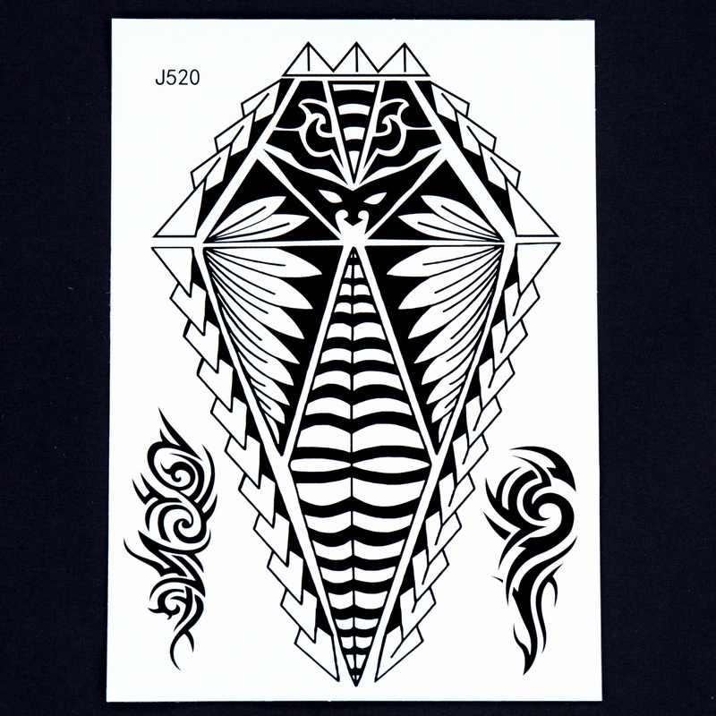 1 Pc Hot Grote Body Art Arm Sleeves Tijdelijke Tattoo Sticker Fake Mannen Egyptische Mummies Indian Totem Zwart Tatuagem Taty 24 Model