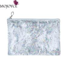 Fashionable Transparent Clutch Bag for Women Simple Handbags for Girls Clear PVC Handbag Sequins Totes Mini Clutch Pouch 2018(China)