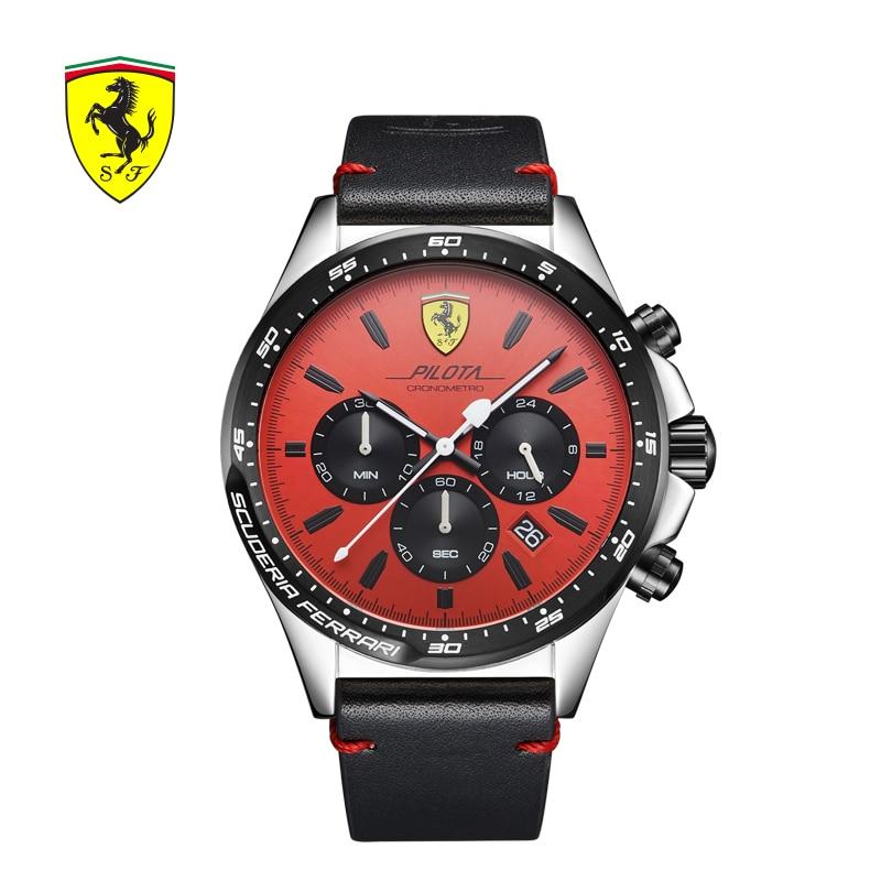 Scuderia Ferrari marcas hombres reloj Europa los hombres del reloj de moda atmósfera moda cronógrafo impermeable reloj 0830387