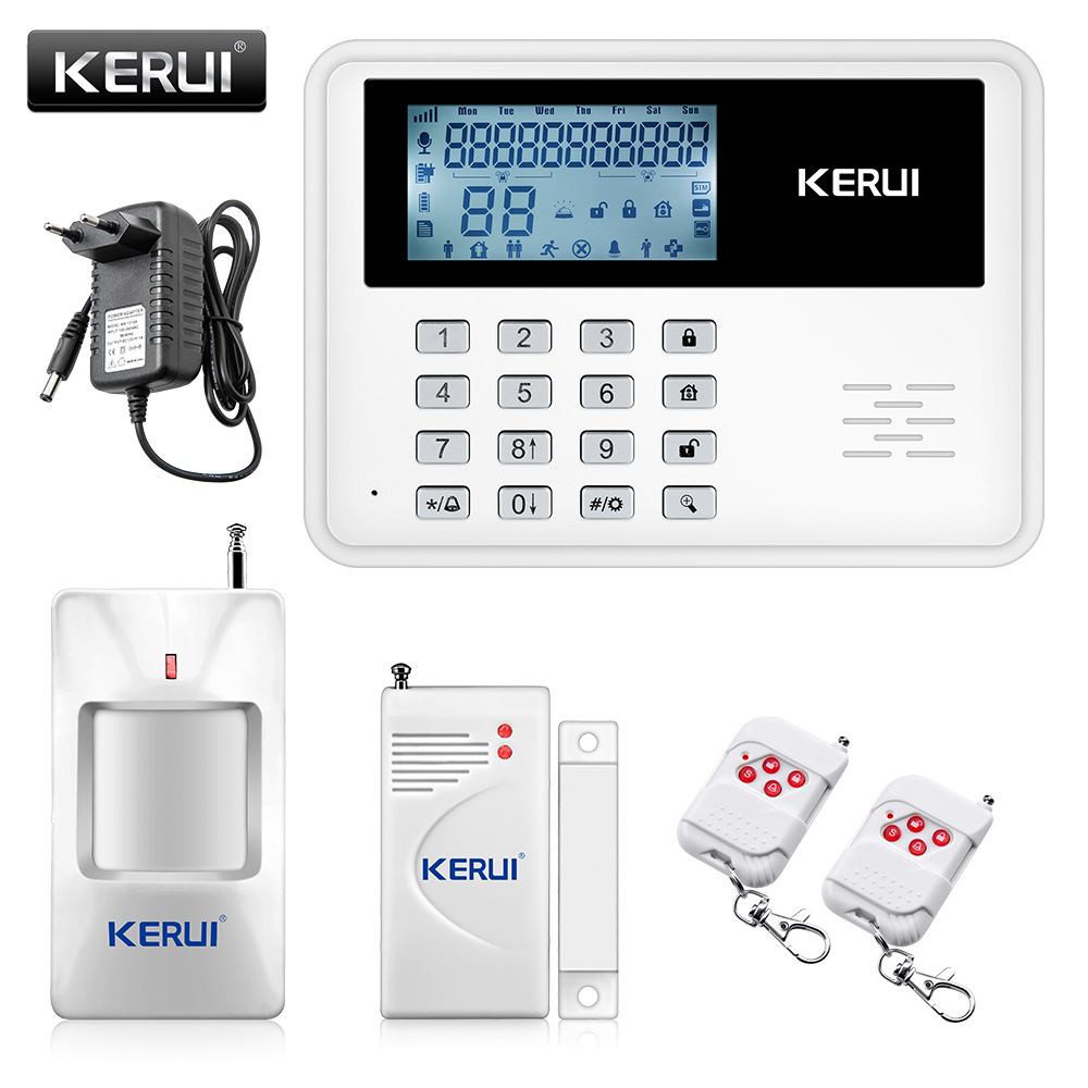 KERUI 5900G Voice Prompt GSM Alarm Systems LCD Display Wireless Door Sensor Home Security Wired Siren Kit SIM SMS Burglar Alarm voice prompt wireless door sensor home security gsm alarm systems tft display wired siren kit sim sms alarm metal remote control
