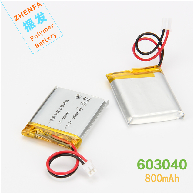 3.7V 800mAh 603040 Lithium Polymer Battery For GPS navigator Mp3 Mp4 Mp5 PAD DVD E-book speaker universal rechargeable battery