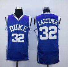 6c56a894ab20  32 Christian Laettner Duke Blue Devils Throwback Jers Retro Basketball  Jersey New Material Top quality