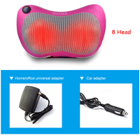 8 Heated Rollers Shiatsu Back Neck Massager Deep Tissue Kneading Shoulder Back Foot Electric Massage Pillow for Dad,Mom ,Friends