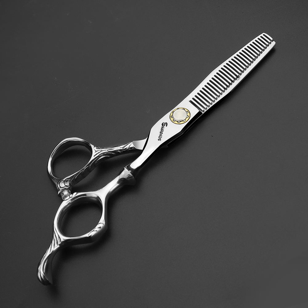 6 inch high end professional hairdressing cut hair scissors Japan 440c stainless steel hair cutting thinning scissors set