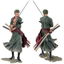 Anime Figura Figura de Acción de Una Pieza de Roronoa Zoro PVC Modelo de Juguete Muñeca 20 cm