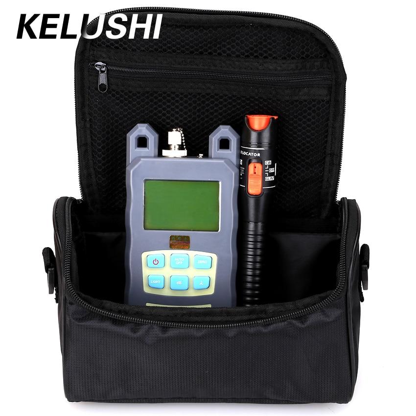 KELUSHI 2 in 1 FTTH Fiber Tool Kit With Fiber Optical Power Meter +10MW plastic Visual Fault Locator /Fiber Optic Cable Tester