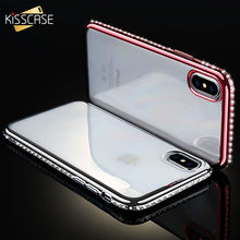 KISSCASE Case For iPhone 5 5s SE Bling Diamond Case Ultra Thin Phone Cover For iPhone 8 7 6 6s Plus X Soft TPU Shell Accessories(China)