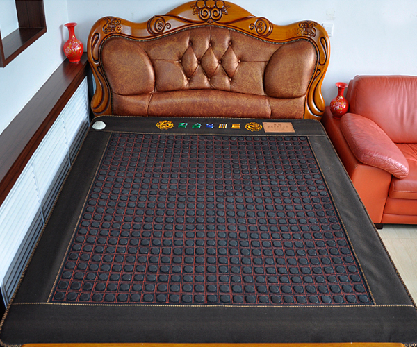 2016 Hot Sale Natural Jade Heating Pad and Tourmaline Sitting Mattress Jade Heating Bed Cushion Made in China 1.2*1.9M new style popular in thailand health care hot stone tourmaline heating bed jade heating pad bed mattress as seen on tv