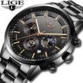 Relojes 2018 часы мужские LIGE модные спортивные кварцевые часы мужские s часы Топ бренд класса люкс Бизнес водонепроницаемые часы Relogio Masculino
