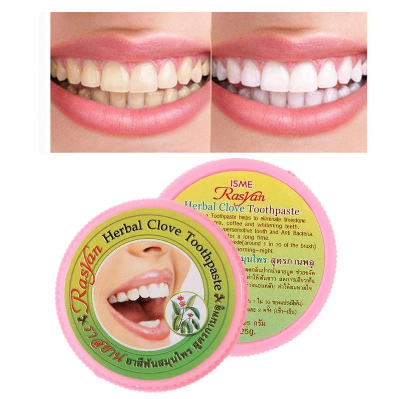 1 Pcs Natürliche Pflanzliche Zahnpasta Halten Mund Frische Bleaching Zahnpasta Pflanzliche Nelke Zahnpasta Für Zahn Bleaching Oral Hygiene
