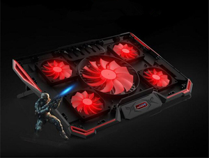 Image 1 - Laptop Cooler Cooling Pad For 17.6 inch and below Laptop With Silence 5pcs LED Fans 2PCS USB 2.0 Adjustable Notebook Holder