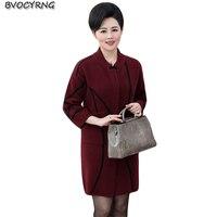 New Fashion Middle Aged And Old Autumn Winter Coat Women Jacket Woolen Parka Female Medium Style