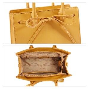 Image 5 - EMINI HOUSE Bow קשר תיק יוקרה תיקי נשים שקיות מעצב פיצול עור Crossbody שקיות נשים שליח תיק