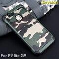 Caso para huawei p9 lite 2 in1 padrão de camuflagem do exército do camo pc + tpu armadura anti-knock tampa traseira de proteção para huawei g9 lite 5.2