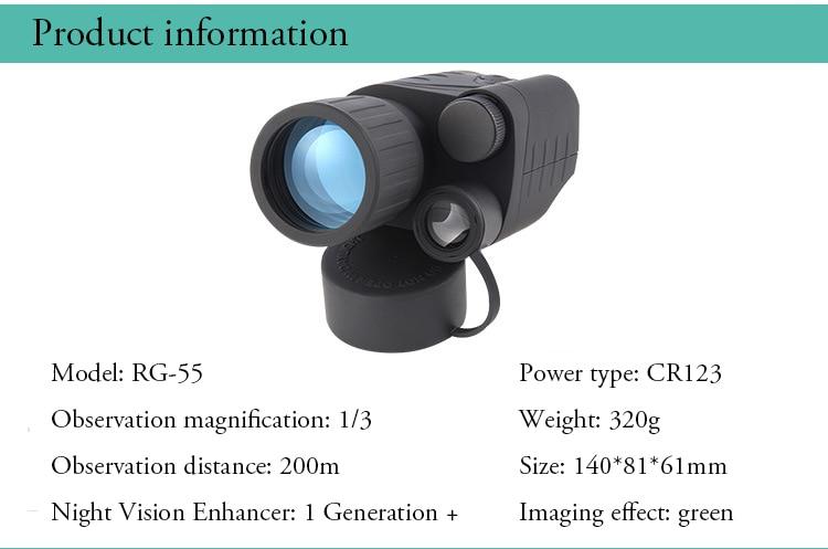 kit de montagem visão noturna monocular compacto