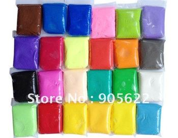24 colour combined ,eack pack with 50gram ,total 1200g ,Light weight clay +Free shipping +Free  Tutorial