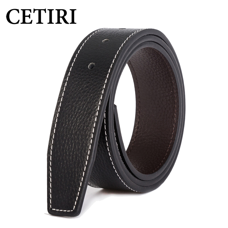 7 Color Men Belt With Holes Without Buckle Brand Designer Leather Strap 3.7cm Wide Smooth Pin Buckle Belts For Men Ceinture