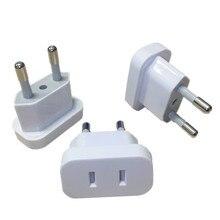 1 pçs eua à ue euro europa plug power plug conversor adaptador de viagem eua para ue adaptador tomada elétrica