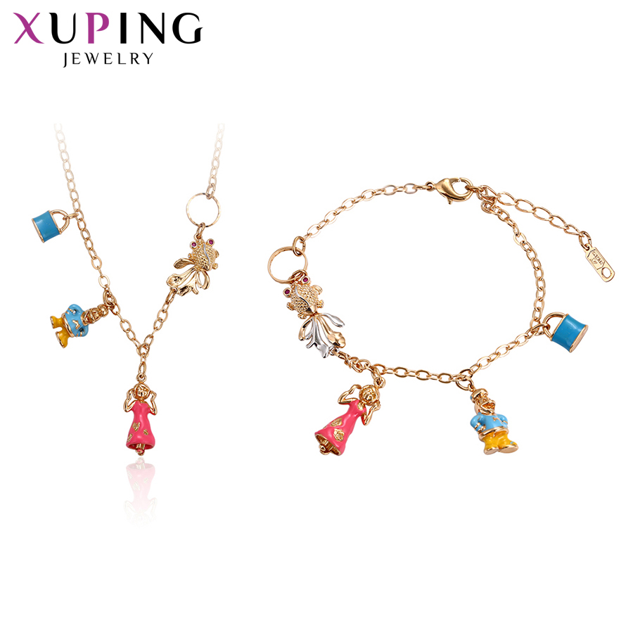 Xuping Vintage Sets 2019 High Quality Exquisite Cute Style Jewelry Sets Multicolor Plated Women Nice Birthday Gift S138.6-61325Xuping Vintage Sets 2019 High Quality Exquisite Cute Style Jewelry Sets Multicolor Plated Women Nice Birthday Gift S138.6-61325