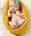 New Newborn Baby Infant Crochet Knit Cocoon Pod Photography Photo Prop Costume