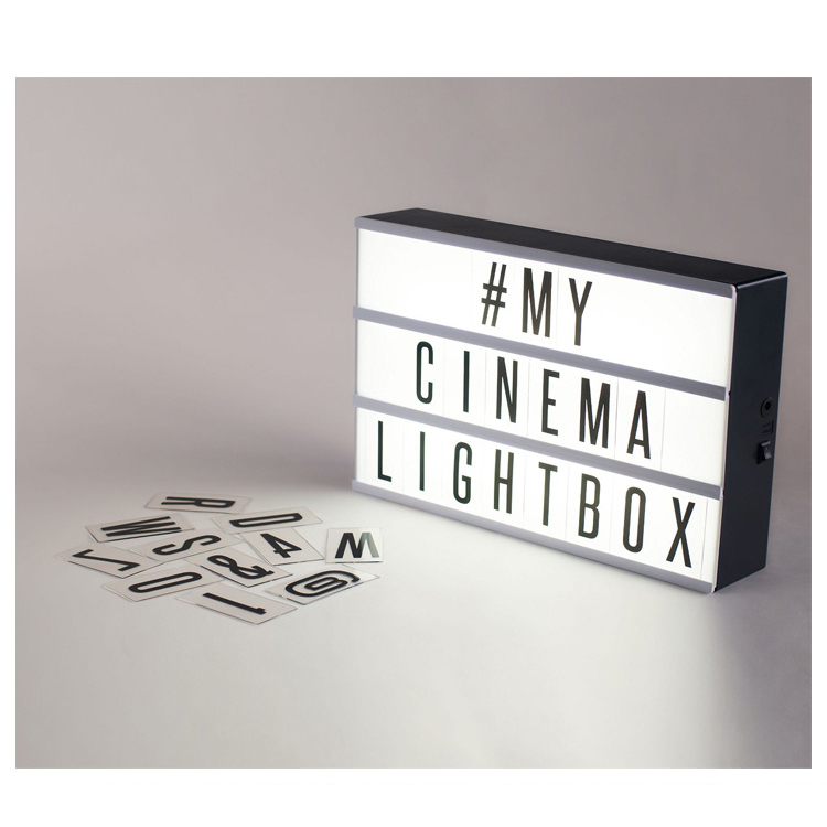 Diy cinematic light box with letter led cinema lamp a4 for Lightbox amazon