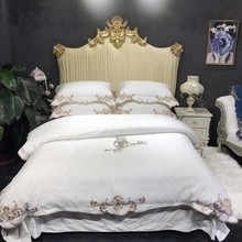 Luxury Royal Embroidery 100S Egyptian Cotton European Palace Bedding Set White Blue Pink Duvet Cover Bed sheet/Linen Pillowcases maggie carpenter cowboy s rules 2