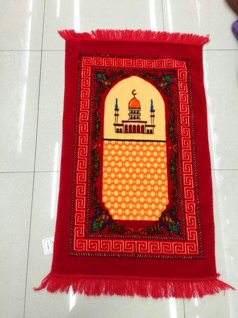 Memory Foam Muslim Prayer Mat Pocket 65*110Cm Red/Blue/Green/Purple Prayer Travel Rug Islam Prayer Mats