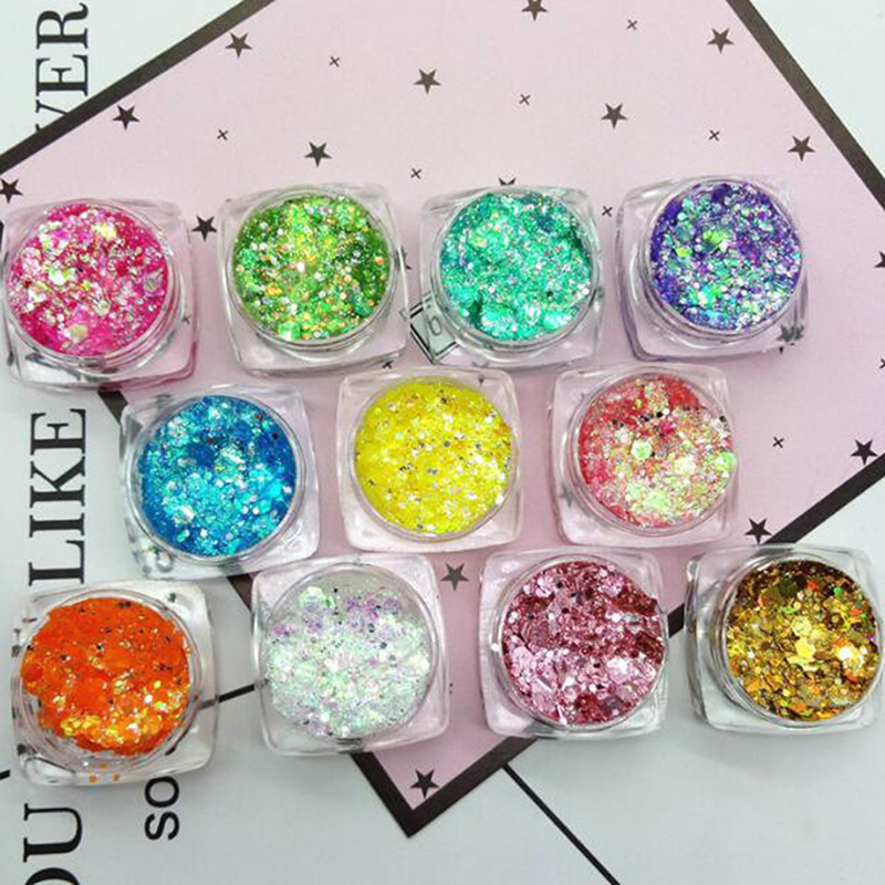 New Glitter Face Glow Shimmer Liquid Maquiagem Eye Pigmento Para Os Olhos Mermaid Cream Highlighter Brighten Makeup