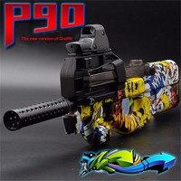 P90 Graffiti Elektrische Auto Speelgoed Guns Grappige Outdoors Speelgoed Kinderen Live CS Assault Wapen Zachte Water Kogel Burst Gun Voor Jongen Gift