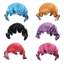 Kids Boys Girls Double Layer Shower Cap Satin Waterproof Bathing Hat Children Do