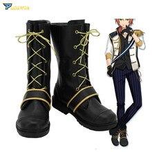 Ensemble Stars Tsukinaga Leo Cosplay Shoes Custom Made Boots ensemble stars judge black and white duel adoring past izumi sena sakuma ritsu cosplay costume custom made halloween christmas