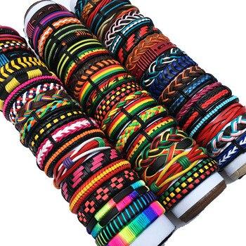 6pcs Leather Bracelets For Men Wrap Bangle Party Gifts 1